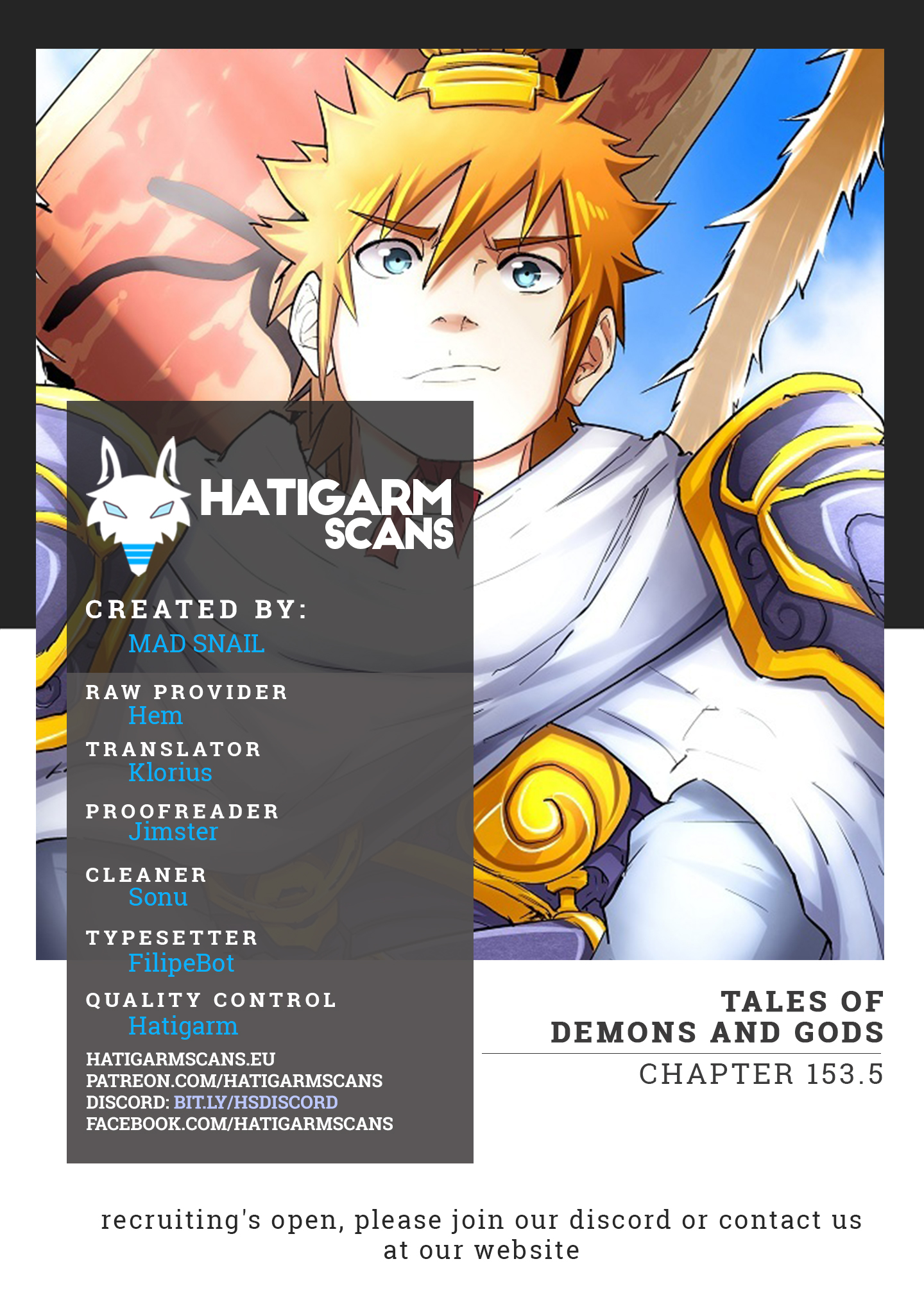 Tales of Demons and Gods Vol.1 Ch.153.5
